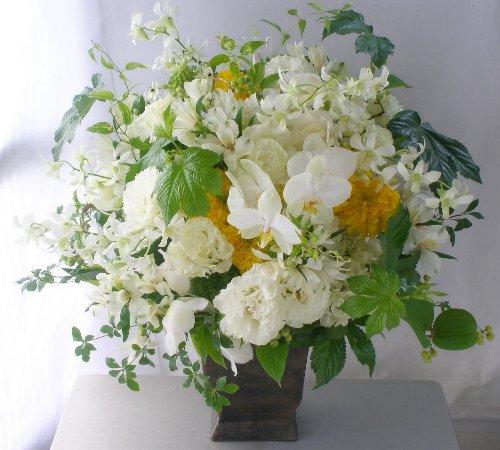 夏の胡蝶蘭やデンファレのアレンジメント a102630