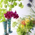 母の日花とフラワーベース1