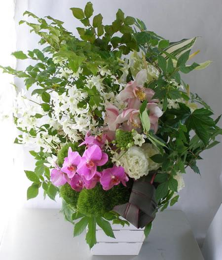 女性社長への開業のお祝い花、a120718