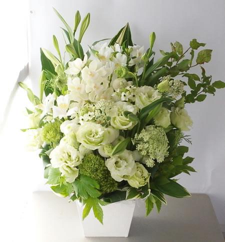 白とグリーン/お供え花 a140523