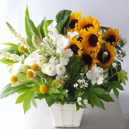 お供え花 ひまわり a140613