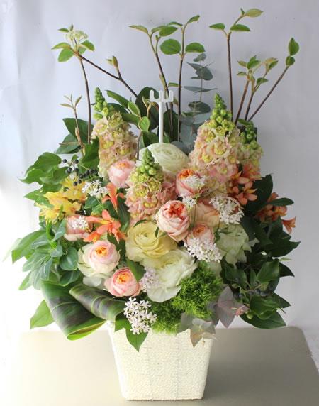 開業祝い花 a160306