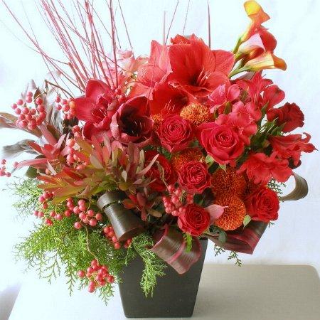 クリスマスの時期のお祝い花 a81215